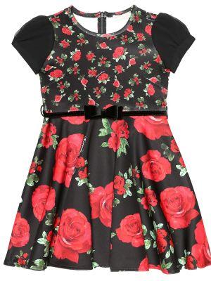 Платье с цветочным принтом с розами Monnalisa