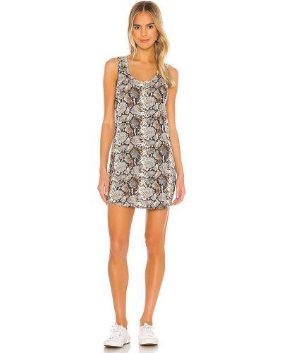 Платье из спандекса - коричневое Pam & Gela