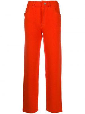 Оранжевые хлопковые укороченные брюки с карманами Barrie