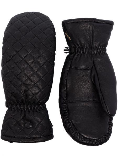 Водонепроницаемые кожаные черные перчатки Goldbergh
