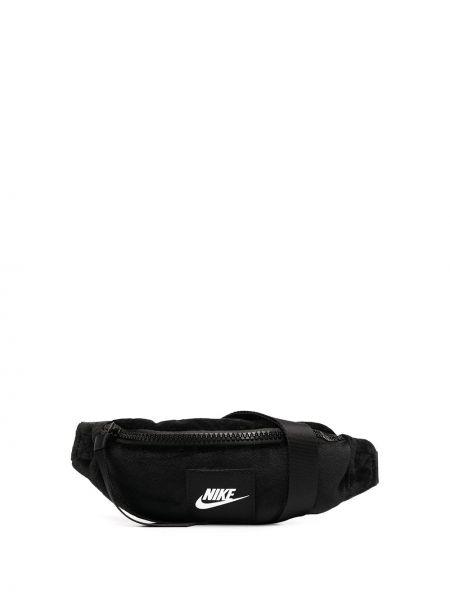 Czarny pasek z paskiem z printem Nike