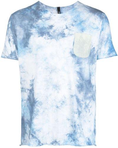 Niebieski t-shirt bawełniany z printem Giorgio Brato