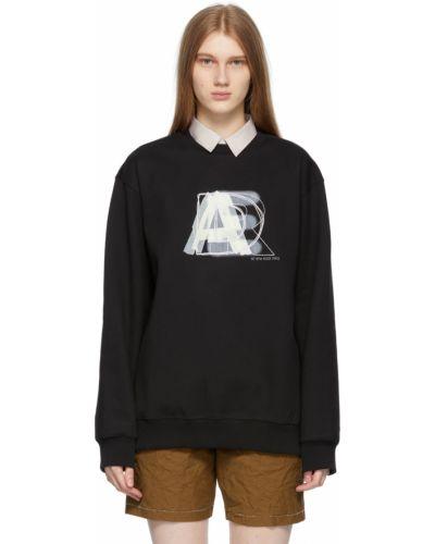 Czarna bluza długa z długimi rękawami bawełniana Ader Error