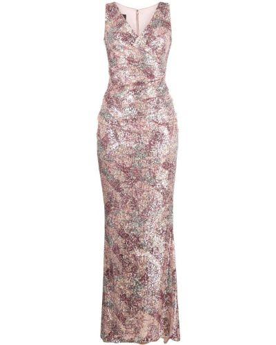 Платье с V-образным вырезом - розовое Talbot Runhof