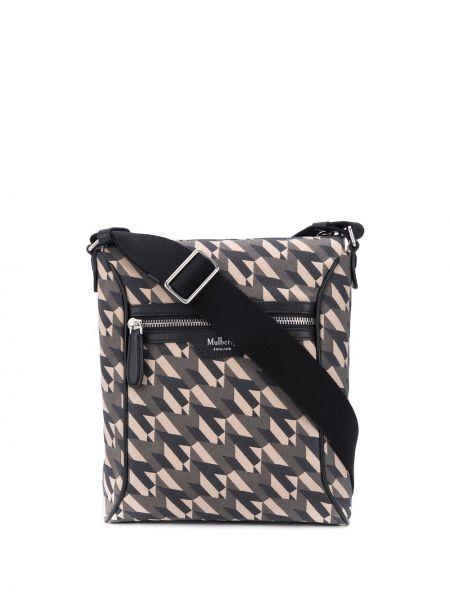 Skórzany torba z logo Mulberry