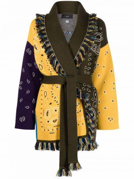 Желтое пальто длинное Alanui