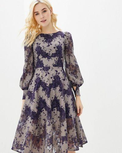 Разноцветное платье - бежевое Gepur