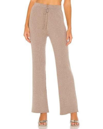 Ze sznurkiem do ściągania włókienniczy spodnie palazzo w połowie kolana elastyczny Lovers + Friends