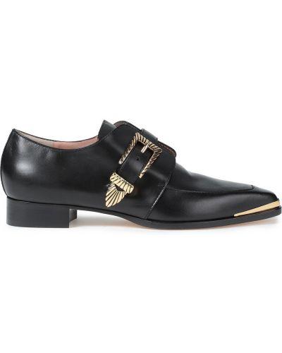Черные туфли с квадратным носком Alberta Ferretti