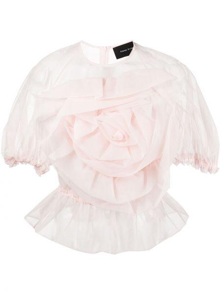 Розовая блузка из фатина Simone Rocha