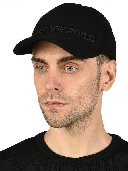 Шерстяная кепка - черная Karl Lagerfeld