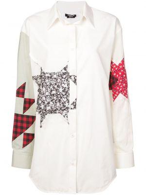 Белый классический топ на пуговицах с воротником Calvin Klein 205w39nyc