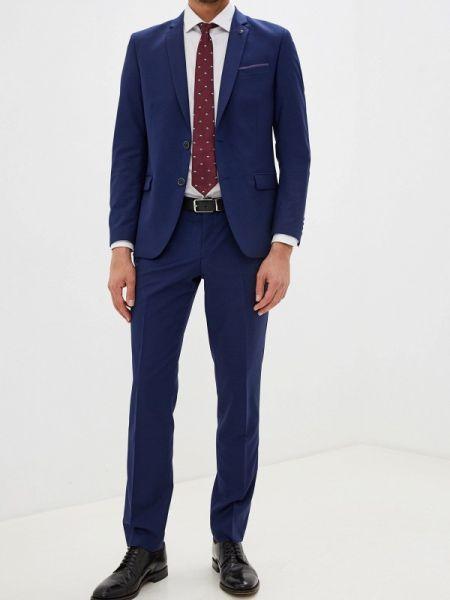 Синий костюмный костюм классический Bazioni
