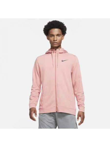 Różowa bluza z kapturem rozpinana Nike