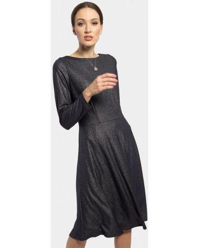 Вечернее платье осеннее синее Vladi Collection