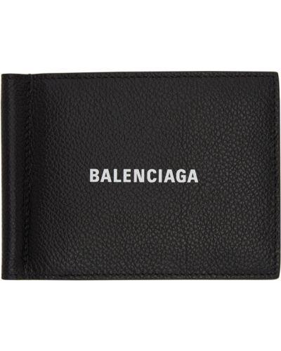 Черный кожаный кошелек с тиснением Balenciaga