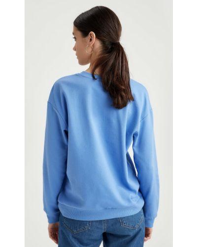 Хлопковый свободный свитер свободного кроя Defacto