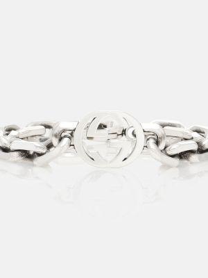 Повседневный серебряный браслет Gucci