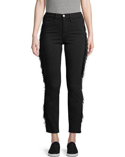 Зауженные джинсы-скинни с карманами с бахромой Frame Denim