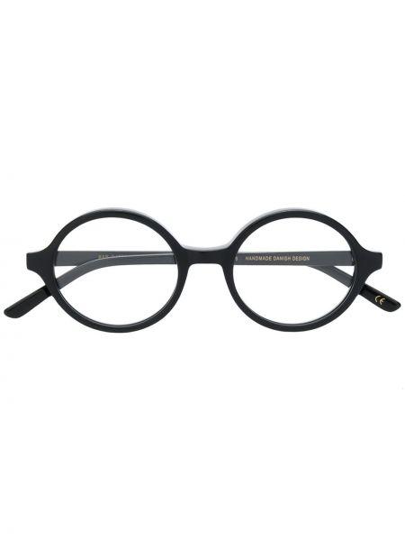 Черные солнцезащитные очки металлические Han Kjøbenhavn