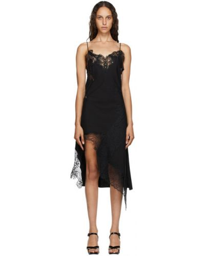 Платье на бретелях из поплина с V-образным вырезом с воротником Marques Almeida