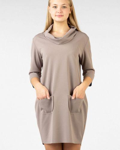 Платье осеннее бежевое Intrico
