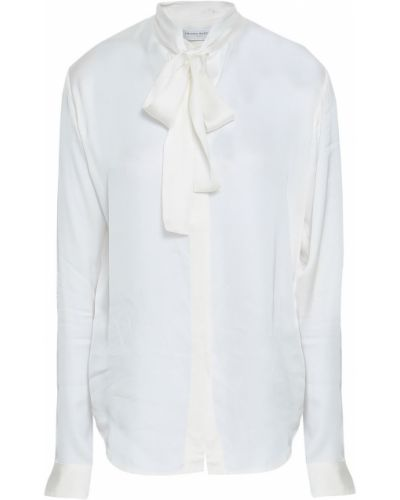 Блузка атласная - белая Amanda Wakeley
