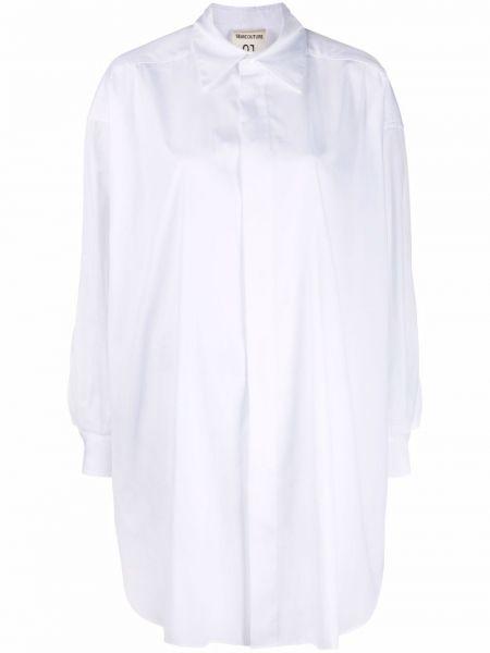 Платье макси с длинными рукавами - белое Semicouture