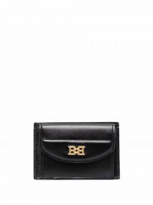 Черный кожаный кошелек Bally