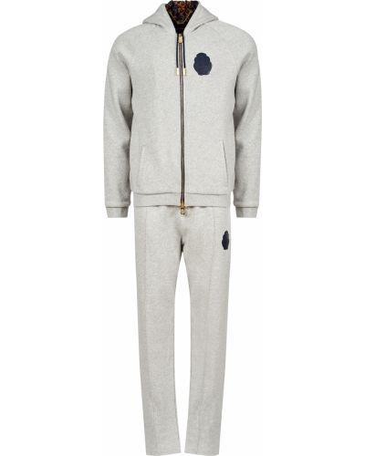 Хлопковый спортивный костюм - серый Billionaire