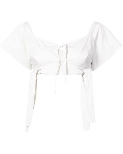 Блузка с короткими рукавами - белая Isa Arfen