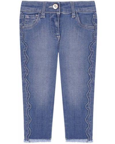 Голубые джинсы с эффектом потертости Chloé
