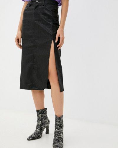 Кожаная юбка - черная Miss Gabby