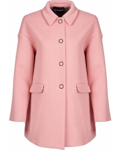 Пальто из вискозы - розовое Emporio Armani