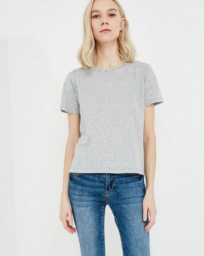 Серая футболка Twin-set Simona Barbieri