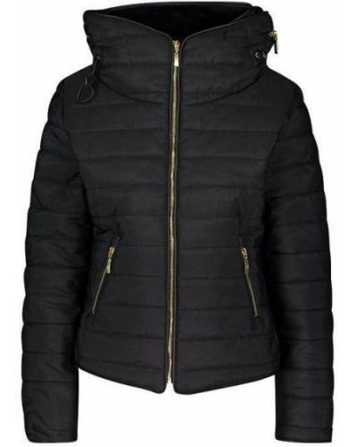 Стеганая куртка - черная Boohoo