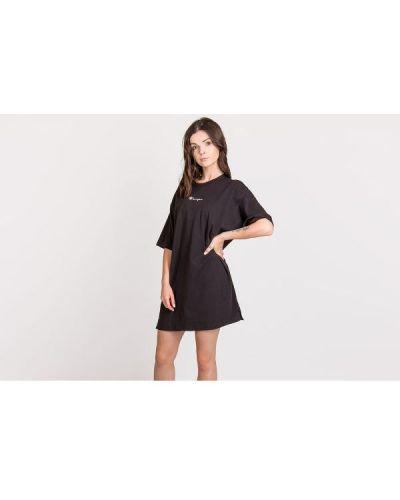 Sukienka mini z printem - czarna Champion