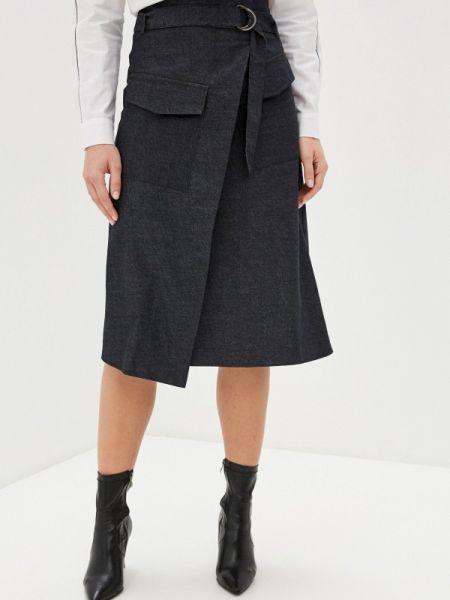Джинсовая юбка черная весенняя Unq
