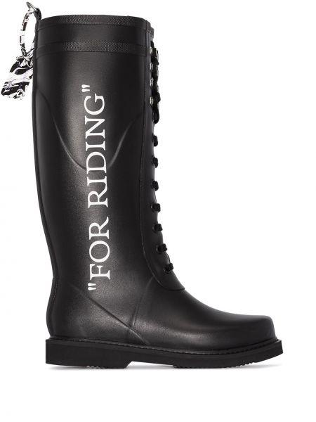 Włókienniczy czarny buty Off-white