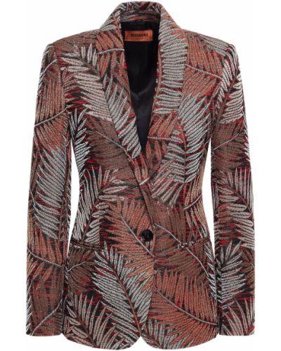 Коричневый пиджак с карманами на пуговицах Missoni