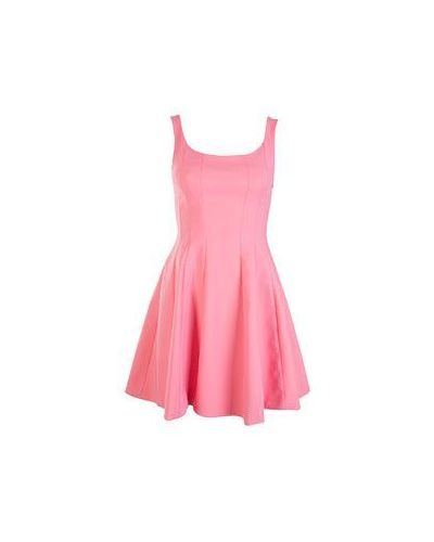 Хлопковое повседневное розовое платье Flavio Castellani