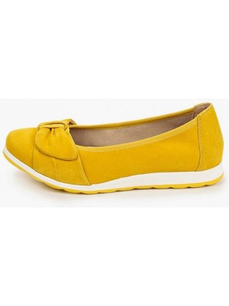 Балетки замшевые желтый Caprice