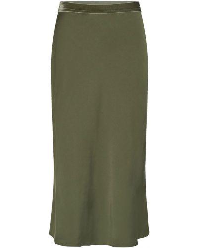 Satynowa długa spódnica - zielona Mos Mosh