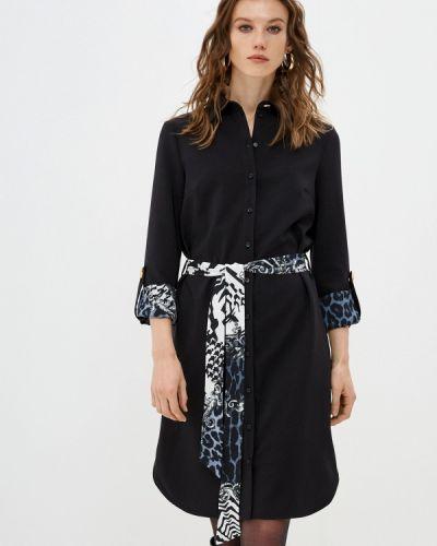 Черное платье-рубашка Cavalli Class