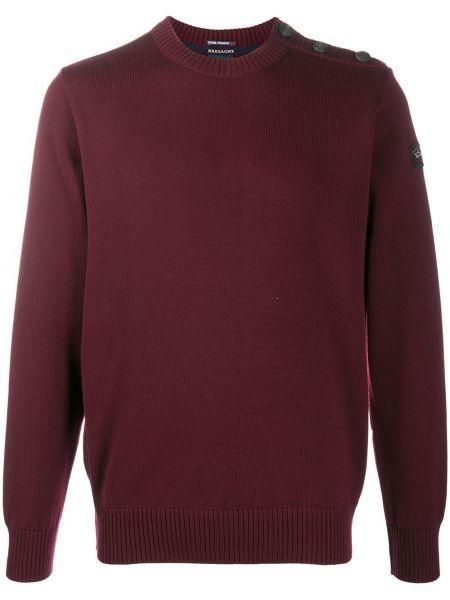 Sweter z łatami okrągły z długimi rękawami okrągły dekolt Paul & Shark