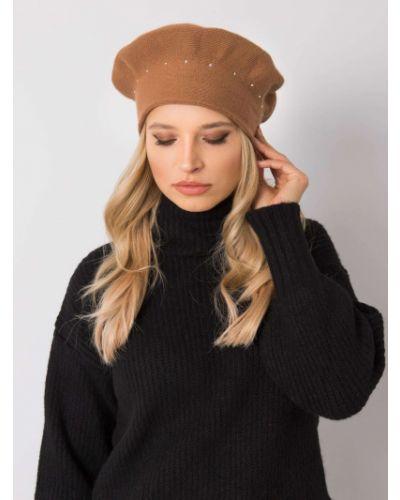 Brązowy beret z akrylu Fashionhunters