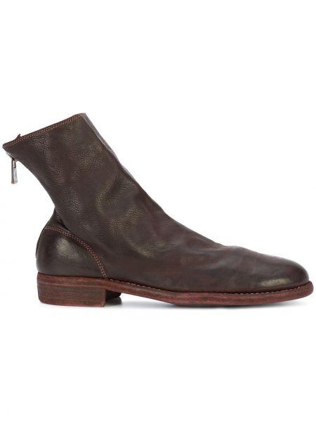 Skórzany buty okrągły nos Guidi