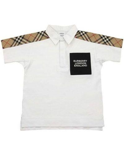 T-shirt bawełniany vintage w kratę Burberry