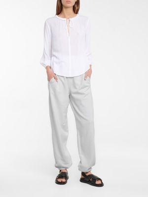Bluzka z aksamitu - biała Velvet
