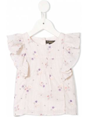 Розовая блузка без рукавов с люрексом Velveteen